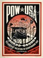 Shepard FAIREY (OBEY GIANT) (né en 1970) POW USA (PERMANENT VACATION IN GUANTANAMO BAY), 2007 Sérigraphie en couleurs