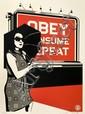 Shepard FAIREY (OBEY GIANT) (né en 1970) OBEY BILLBOARD CONSUME, 2008 Sérigraphie en couleurs