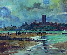 Henri PONTOY 1888 - 1968 LA TOUR HASSAN, RABAT Huile sur toile