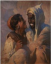 Adam STYKA 1890 - 1959 LES AMOUREUX Huile sur toile