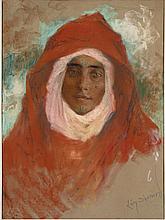 Lucien LÉVY-DHURMER 1865 - 1963 JEUNE FEMME Pastel sur papier