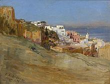 Frederick Arthur BRIDGMAN 1847 - 1928 VUE D'ALGER, 1886 Huile sur toile
