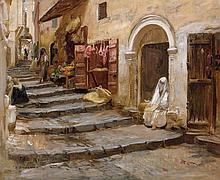 Frederick Arthur BRIDGMAN 1847 - 1928 CASBAH D'ALGER, 1886 Huile sur toile