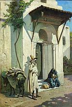 Jules GASSON XIXe siècle HALTE Huile sur toile