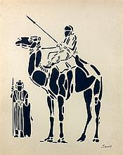 Paul JOUVE 1878 - 1973 TOUAREGS, 1931 Encre de Chine sur papier fort