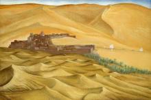 ¤ François-Louis SCHMIED 1873 - 1941 TAGHIT, SUD ORANAIS, 1933 Peinture à la détrempe sur panneau d'isorel