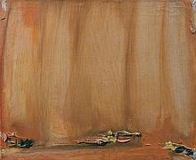 Olivier DEBRE (1920 - 1999) OCRE PALE DES TILLEULS - 1983 Huile sur toile