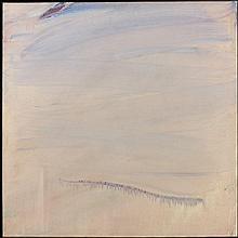 Olivier DEBRE (1920 - 1999) GRIS ROSE A LA TACHE ROSE (LOIRE) - 1984 Huile sur toile