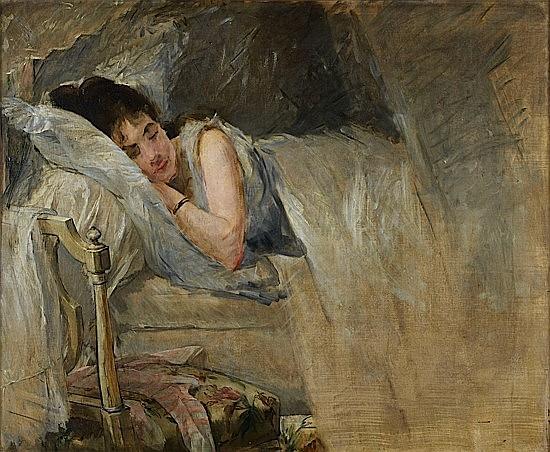 Eva GONZALES (1849-1883) LE SOMMEIL, CIRCA 1877-1878Vers 1877-1878LE SOMMEILVers 1877-1878LE SOMMEIL, circa 1877-1878 Huile sur toil...