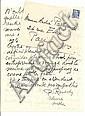 Pierre REVERDY 5 lettres REVERDY 5 L.A.S., 1952 10 p. in-8 ou in-4, de large écriture. Solesmes,...