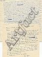 Marcel AYME  Textes et lettres manuscrits