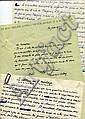 Pierre MAC-ORLAN Le Chateau de l'Horloge - manuscrits et lettres - LE CHATEAU DE L'HORLOGE, manusc...