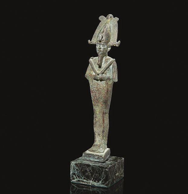 OSIRIS EN BRONZE, EGYPTE SAÏTE, VERS 664-525 AV.J.C.