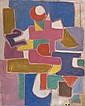 Natalia DUMITRESCO (1915-1997) COMPOSITION Huile sur toile