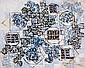 Natalia DUMITRESCO (1915-1997) BLEU, 1967 Huile sur toile