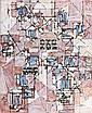 Natalia DUMITRESCO (1915-1997) COMPOSITION, 1982 Huile sur toile