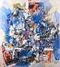 Alexandre ISTRATI (1915-1991) COMPOSITION UCCELO, 1985 Huile sur toile