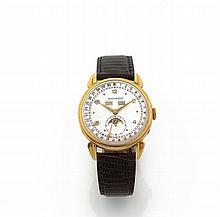MOVADO N° 472523/4920, vers 1940 Belle montre bracelet en or jaune 18K (750). Boîtier rond, anses