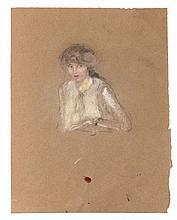 Edouard VUILLARD 1868 - 1940 PORTRAIT DE FEMME Pastel et fusain sur papier