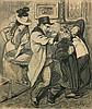 Théophile Alexandre STEINLEN 1859 - 1923 LE COMPLOT Fusain et crayon bleu sur papier, Theophile Alexandre Steinlen, €1,200