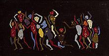 Yves LALOY 1920 - 1999 LES ADIEUX - Circa 1963-1964 Huile sur toile