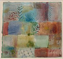 Hans REICHEL 1892 - 1958 COMPOSITION - 1957 Aquarelle sur papier