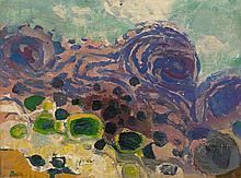 Gustav BOLIN 1920 - 1999 COMPOSITION Huile sur panneau