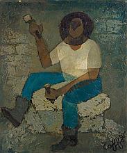 Louis TOFFOLI 1907 - 1999 LE MACON - 1966 Huile sur toile