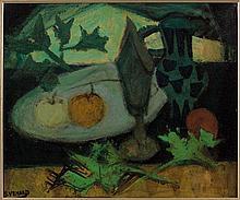 Claude VENARD 1913 - 1999 NATURE MORTE Huile sur panneau d'Isorel