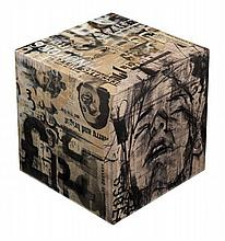 Guy DENNING (Né en 1965) PANDORA'S BOX, 2013 Technique mixte sur structure en bois