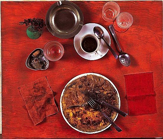 Daniel SPOERRI (né en 1930) EATEN BY MARCEL DUCHAMP, 1964 Tableau-Piège, collage d'objets sur panneau