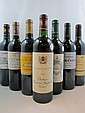 11 bouteilles  1 bt : CHÂTEAU LA FERRIERE 2000 Margaux 1 bt : LA DAME DE MALESCOT 2002 Margaux 1 bt : CHÂTEAU ESCURAC 2004 Médoc...