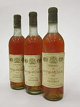 6 bouteilles CHÂTEAU DE RAYNE VIGNEAU 1966 1er Cru Sauternes (1 base goulot