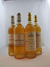 4 bouteilles 2 bts : CHÂTEAU RABAUD PROMIS 1998 1er cru Sauternes (dont 1 étiquette déchirée)