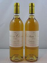 6 bouteilles CHÂTEAU CLIMENS 1995 1er cru Barsac