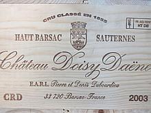 12 bouteilles CHÂTEAU DOISY DAENE 2003 2è cru Barsac Caisse bois d'origine