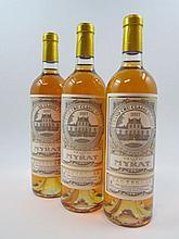 12 bouteilles CHÂTEAU DE MYRAT 2007 Sauternes Caisse bois d'origine