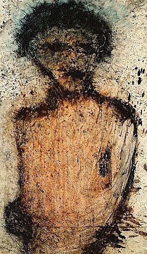 Michel HAAS (né en 1936) PORTRAIT Technique mixte sur papier