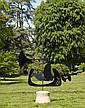 Philippe HIQUILY (1925 - 2013) GIROUETTE, 2004-2009 Sculpture en fer et socle en pierre