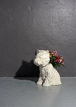 Jeff KOONS Né en 1955 PUPPY - 1998 Vase en céramique émaillée blanc