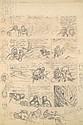 HERGÉ Georges Remi dit (1907-1983) LES AVENTURES DE TINTIN TINTIN AU TIBET Mine de plomb pour le crayonné de la planche32 de...
