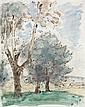 Georges d'ESPAGNAT (Melun, 1870- Paris, 1950) PAYSAGE Encre et aquarelle sur papier