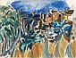 Jean DUFY (Le Havre, 1888- Boussay, 1964) PAYSAGE, 1919 Gouache et fusain sur papier