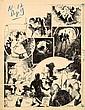 CALVO Edmond-François (1892-1958) D'ARTAGNAN Encre de Chine pour la planche 17 de cette série publiée dans la revue Junior au début ...