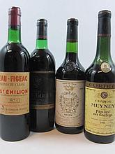 9 bouteilles 1 bt : CHÂTEAU MEYNEY 1964 CB Saint Estèphe (niveau 6,5 cm, étiquette sale)