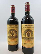 2 bouteilles CHÂTEAU ANGELUS 1999 1er GCC (B) Saint Emilion