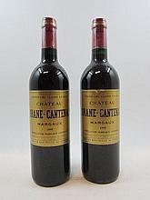 12 bouteilles CHÂTEAU BRANE CANTENAC 1999 2e GC Margaux