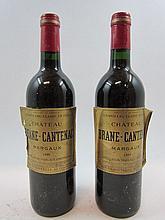 6 bouteilles CHÂTEAU BRANE CANTENAC 1999 2è GC Margaux (étiquettes abimées par l'humidité)