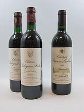 6 bouteilles 1 bt : CHÂTEAU PRIEURE LICHINE 1993 4è GC Margaux (étiquette tachée)