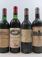 9 bouteilles 3 bts : CHATEAU SOUTARD 1966 GCC Saint Emilion (dont 1 légèrement bas, 2 hautes épaules, étiquettes tachées)